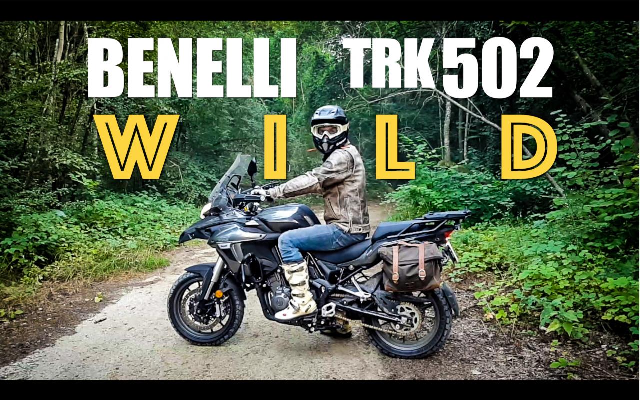 Essai de la Benelli TRK 502 en forêt par Les Vieux Boulons, concessionnaire moto à Lagny-Sur-Marne
